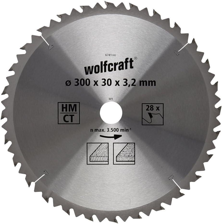 24 dient 250x30x3.2mm Serie marr/ón diam Wolfcraft 6740000 6740000-1 Hoja de Sierra Circular HM 250 x 30 x 3,2 mm