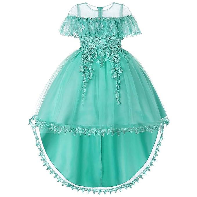 Amazon.com: Vestido de princesa con tutú de encaje para ...