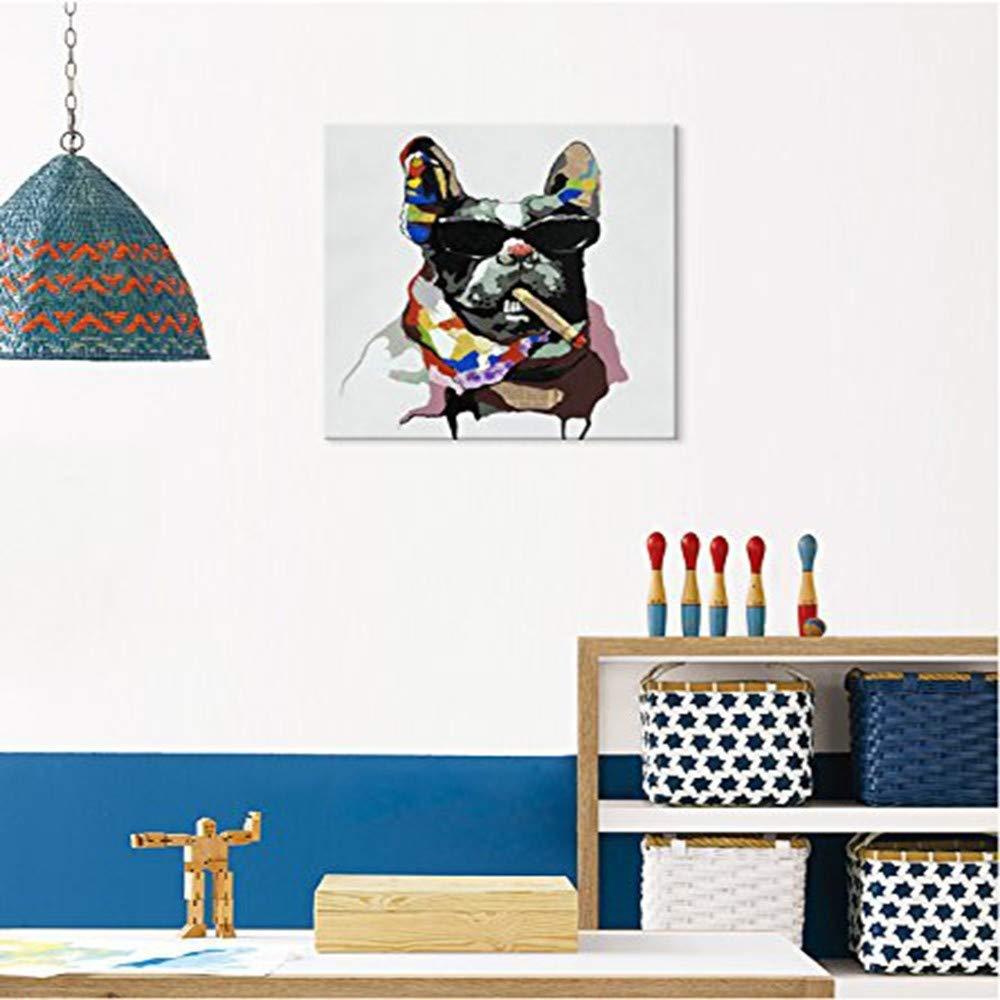 WHUI pintura al óleo Dibujado a al Mano Pintura al a óleo Animal Grande Abstracta Pintura al óleo Animal decoración del hogar 3a3e9e