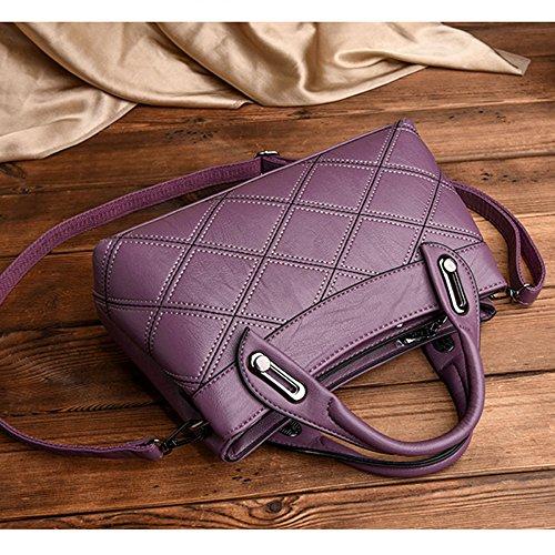 Sac Grande tout En Diamond Les Purple Sac Lady Pu Sac Casual à Crossbody Sacoche Pour Soft Cuir Femmes Bandoulière Sac à Capacité Fourre Main xwqwT061X