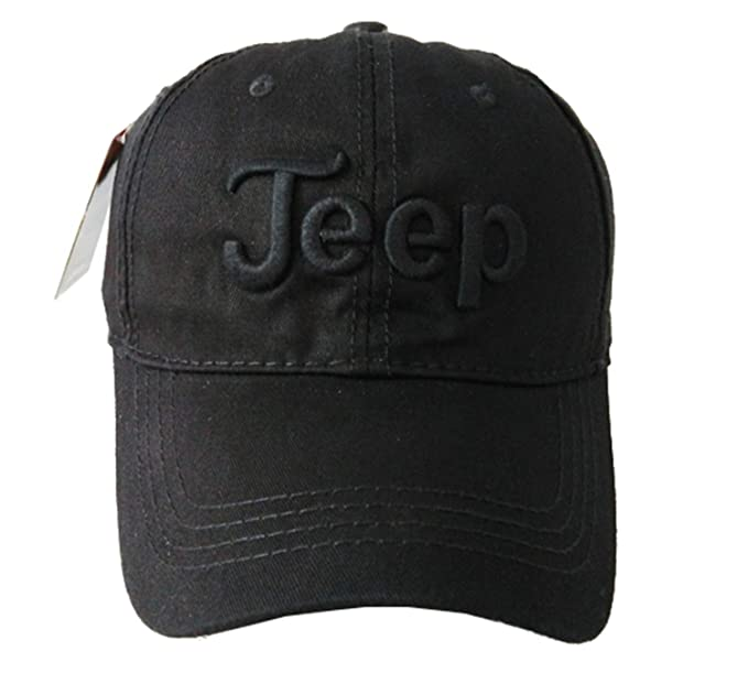 e4e1cb965 Jeep Embroidered Logo Solid Color Adjustable Low Profile Baseball Caps  Fitted Hats for Men and Women