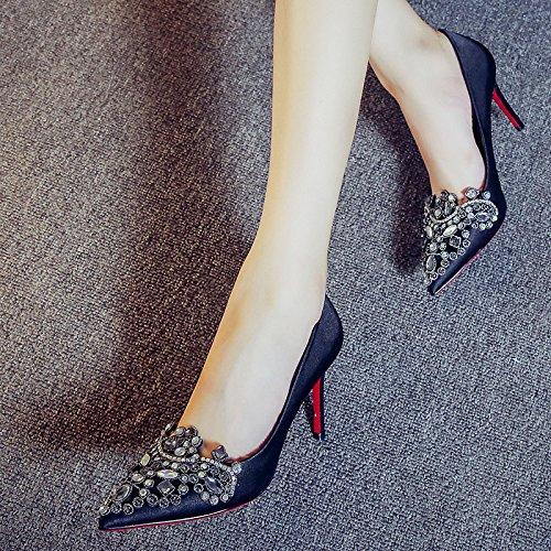 Bouche Et KHSKX À La Marée Coréen Fine Des La Thirty 9Cm Style Talons De Nouvelle six Chaussures Occasionnel Talon L'Automne 6pq6Sf