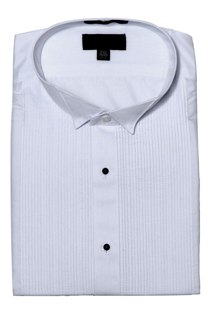 G-Style USA Men's White Tuxedo Shirt