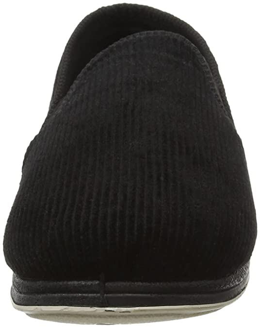 Generous Padders Harry Black Mens Slippers Uk 7 G New Free Uk Pp Clothing, Shoes & Accessories