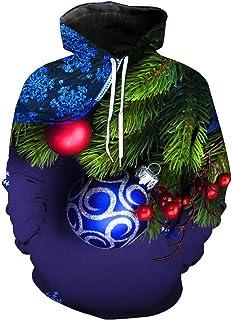 ZHANGXIN L'Albero di Natale di Stampa 3D della Moda Pullover Cappuccio