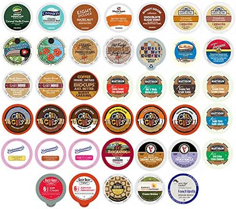 Flavored Coffee Single Serve Cups For Keurig K cup Brewers Variety Pack Sampler, 40 count (Version 1)