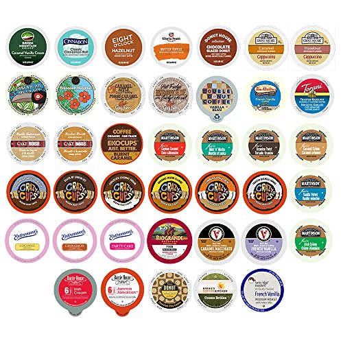 40-count Flavored Coffee Single Serve Cups For Keurig K cup Brewers Variety Pack Sampler (Keurig Coffee Flavored compare prices)