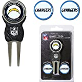 San Diego Chargers NFL Divot Tool w/ Three Double Sided Ball Mar