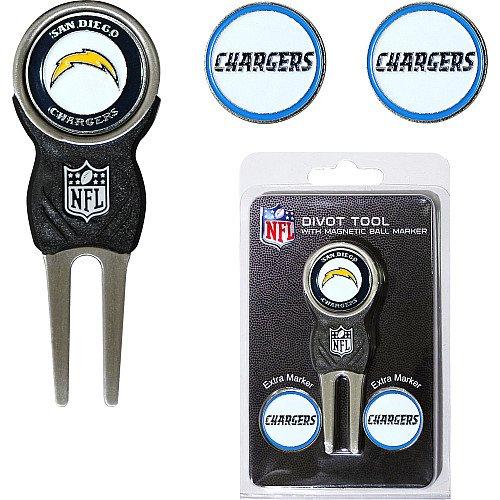 新品即決 San Diego Divot Chargers NFL Divot B0092FH12Y Tool Tool w/ 3つ両面ボールMar B0092FH12Y, 丸岡町:d3ea81c6 --- gfarquitetura.com