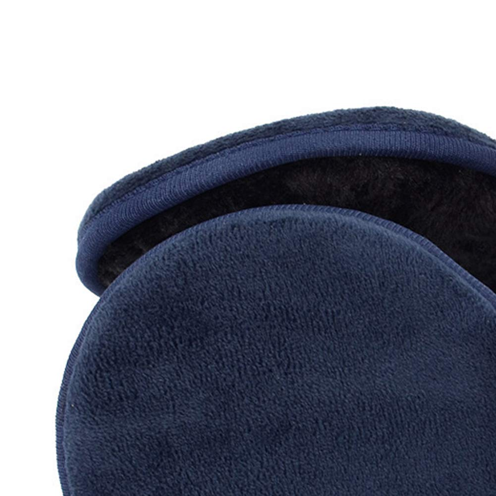 Vektenxi Simple Style Soft Ear muff Ear Warmer Reusable Collapsible Sleeve for Men and Women in Dark Blue Mens Jewelry Durable and Practical