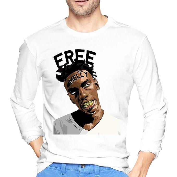 fda6c9a22 Amazon.com: YNW Melly Mens Ideal Long Sleeve T-Shirt White: Clothing