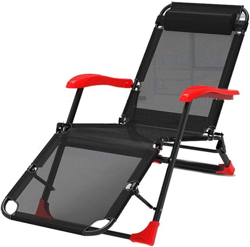 PNYGJZDY Sillón reclinable de jardín al Aire Libre Tumbona Plegable Silla de salón portátil de Gravedad Cero Ajustable con reposacabezas extraíble Sillón Oficina de Descanso for el Almuerzo en casa