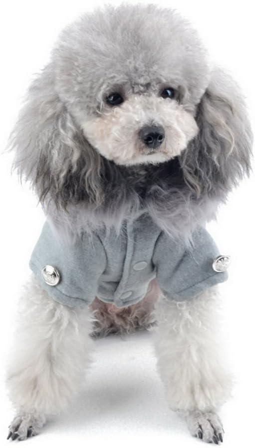 SMALLLEE/_Lucky/_Store Hundemantel Hundejacke Elegant Fleece Fell Kragen ohne Kapuze Lang /Ärmel Winter Hundekleidung f/ür Kleine Hunde
