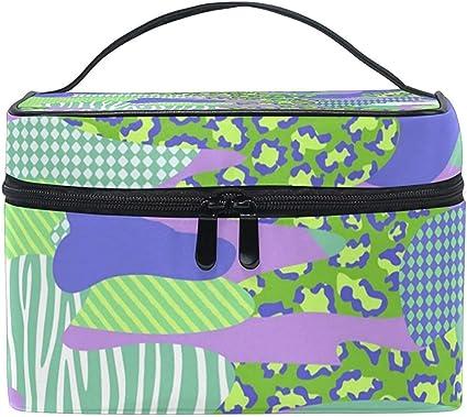 Bolsa de cosméticos Estuche de organizador de kit de artículos de tocador de viaje de maquillaje multifunción de camuflaje fresco con cremallera: Amazon.es: Belleza