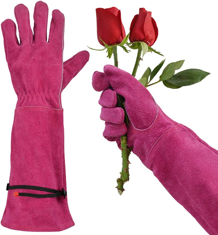 GLOSAV Gardening Gloves for Rose & Cactus Thorn Proof, Heavy Duty Garden Gloves