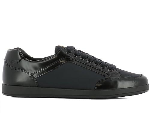 b7f0283007 Prada Sneaker Scarpe Lace up da Uomo Nylon Spazzolato 4e3090 Blu (43 EU - 9