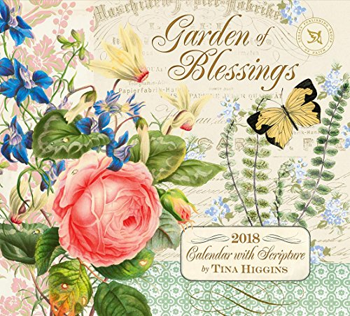 Legacy Publishing Group 2018 12-Month Wall Calendar with Scripture, Garden of Blessings Blessings Garden
