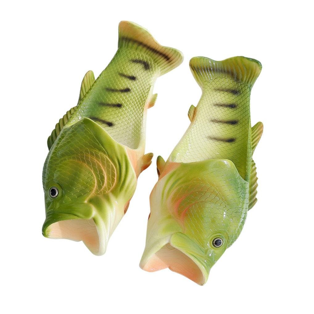 Aurorax Unisex Sandals, [ Fish Shower Non-Slip Slippers] Funny Beach Shoes Sandals (Green, US:8.5-9)