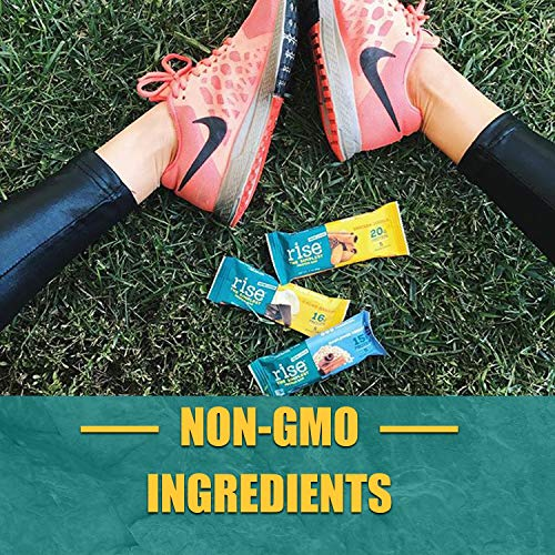Rise Bar Non-GMO, Gluten Free, Soy Free, Real Whole Food, Whey Protein Bar (20g), No Added Sugar, Almond Honey High Protein Bar with Fiber, Potassium, Natural Vitamins &... (Almond Honey (33 Pack)) by RiseBar (Image #5)
