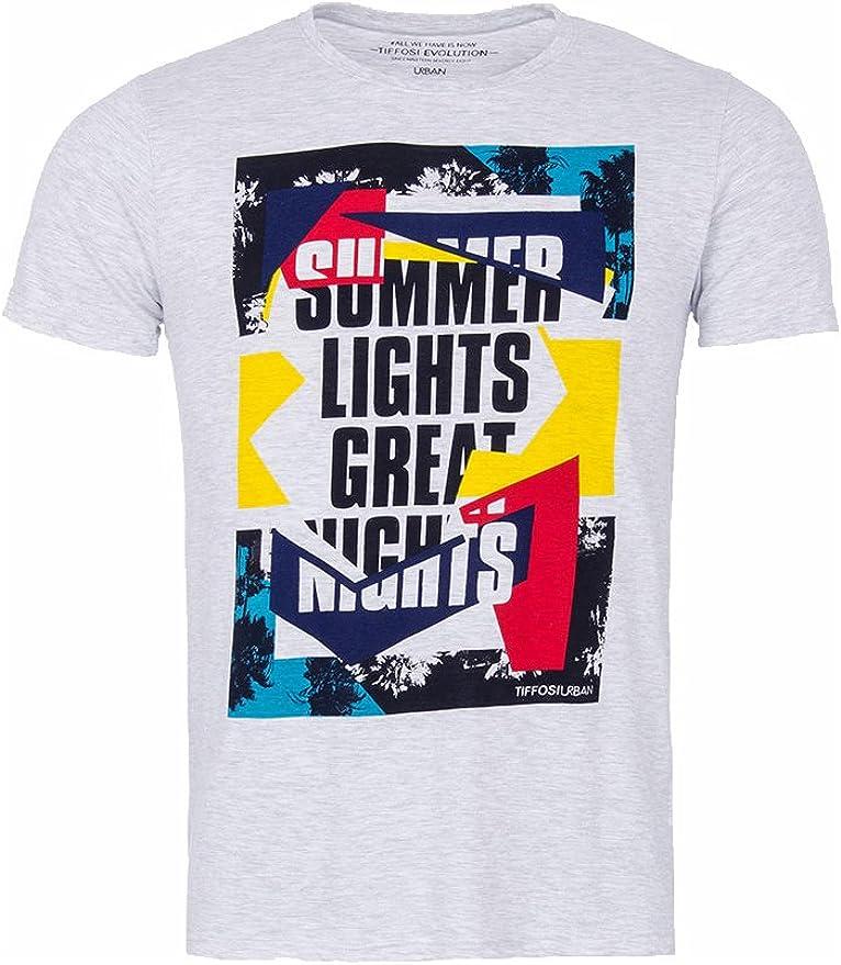Tiffosi Camiseta Hombre Winfred Manga Corta Gris Summer (M): Amazon.es: Ropa y accesorios