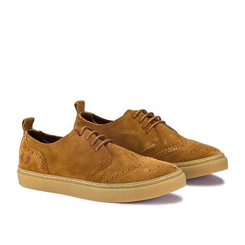 6c20df8c4ab Fred Perry Linden Suede marrón - Zapatos  Amazon.es  Zapatos y complementos
