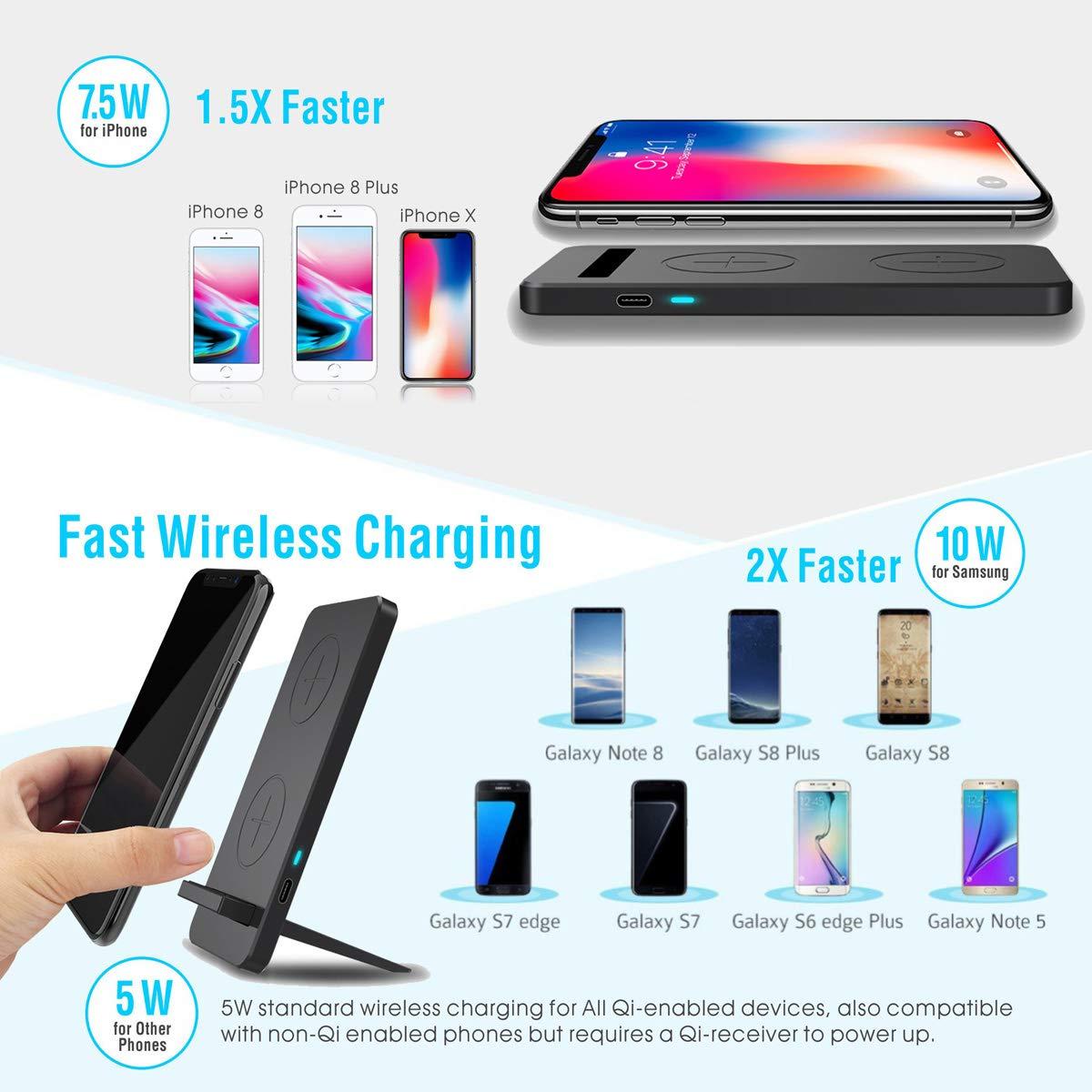 Amazon.com: Base de carga inalámbrica para Samsung Galaxy S8 ...