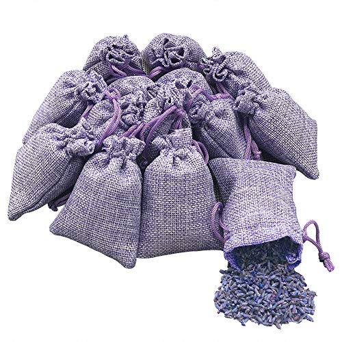 our choices 14 Packs Lavender Sachets Bags Moth proteciton Sachets Bags, Air Freshener for Drawers Cars Closet Shoes, Shower Favor, Wedding Gift. (Purple - 14 Small Sachets)