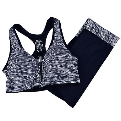 BOZEVON Deportes Fitness Outfits - Mujeres Nuevo Cremallera Sin ...