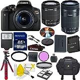 Canon EOS Rebel T6i Digital SLR Camera Bundle with EF-S 18-55mm IS STM Lens + 55-250mm IS STM Zoom Lens + Commander 3pc Filter Kit + Commander 16GB Memory + 6pc Starter Kit + 14pc Canon Bundle