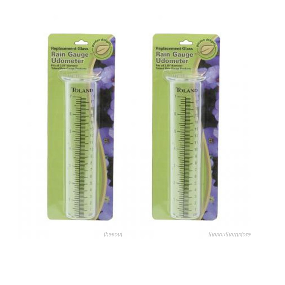 (2-pack) Toland Home Garden Clear Replacement Rain Gauge Udometer 227200