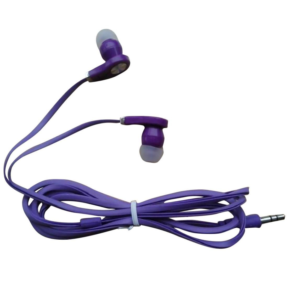 Creazy Universal 3.5mm In-Ear Stereo Earbuds Earphone With a 3.5 mm Audio Jack,Computer (Purple)