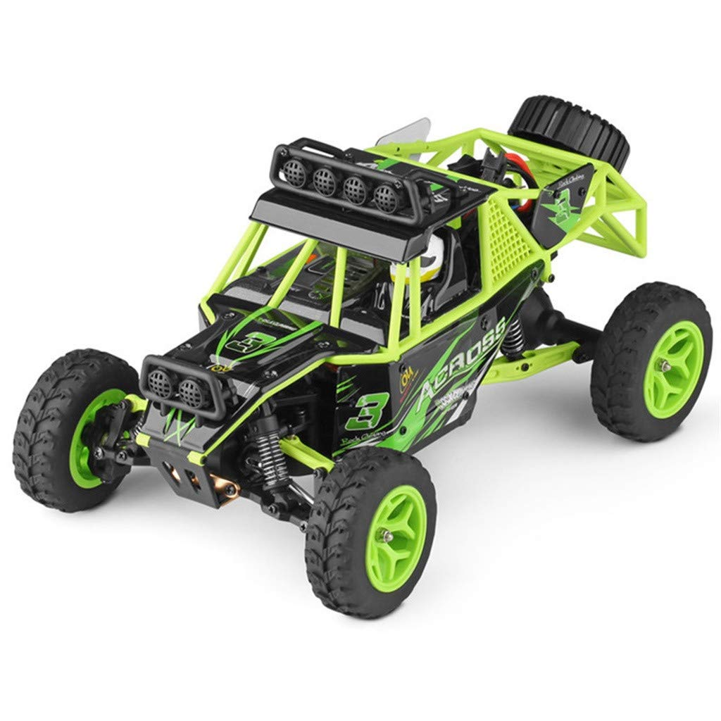 Childrens Day Upgraded 540 Brush Motor High Speed 40km/h 1:18 4D 2.4G RC Car Remote Controll Electric Mode Car Kids Gift (Green) by Aurorax Electric (Image #3)