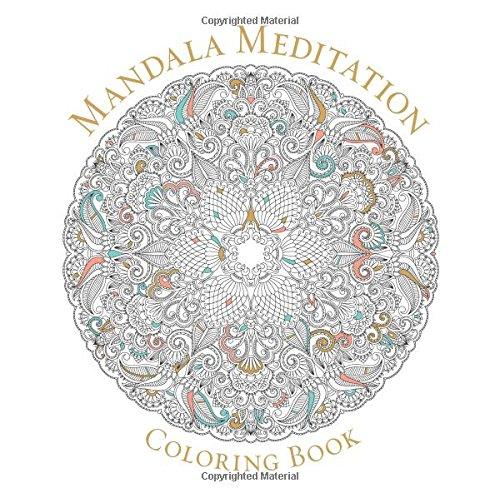Mandala Meditation Coloring Book Serene Free Shipping