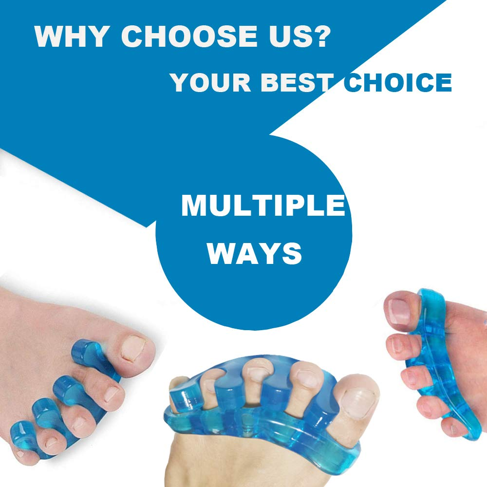 Premium Gel Toe Separators, Spacers & Straighteners, Bunion Correctors for Relaxing Toes, Bunion Relief, Hammer Toe, Toe Stretchers to Restore Toes to Their Original Shape for Men and Women
