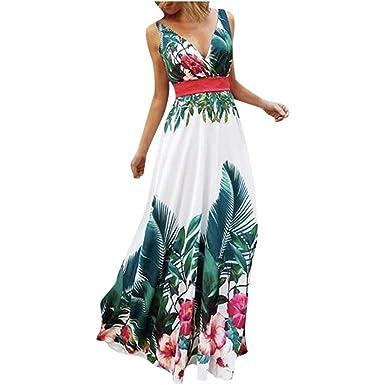 linda el más baratas comprar Mujer Vestidos Fiesta Largos sin Manga Gasa para Ceremonia ...