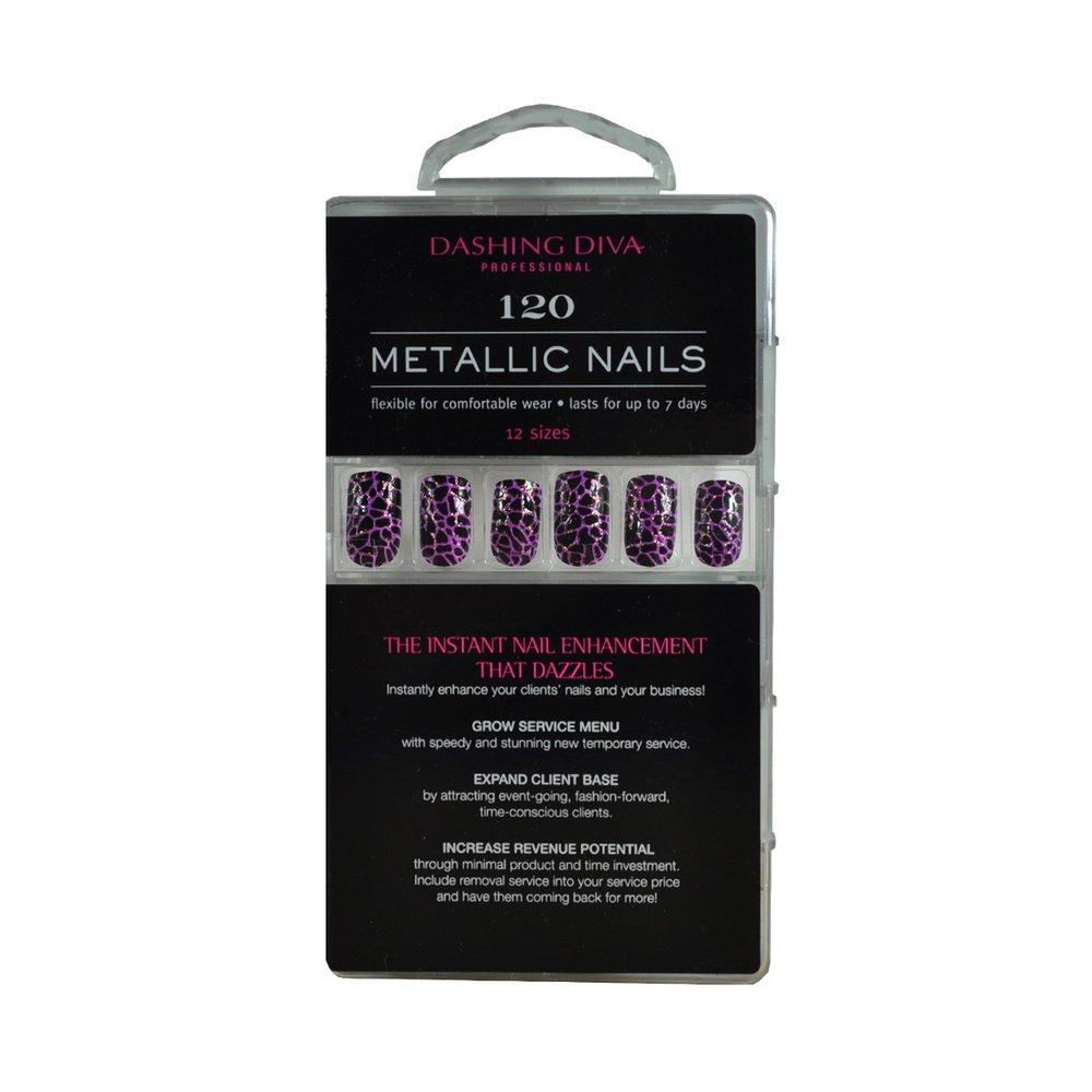 Amazon.com : Dashing Diva Metallic Nails, Heavy Metal, 120 Count ...