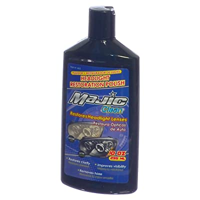 Majic Headlight Lens Cleaner & Sealant, Restores Clarity and Removes Haze from Translucent Plastics, 10 Oz.: Home Audio & Theater