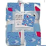 Sharks No-Sew Throw Blanket Fleece Fabric Kit