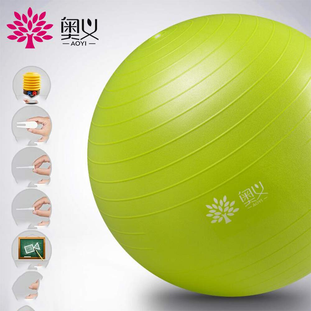 Sports Yoga Ball, Ultra-Thick Stable Ball Chair, Professional-Grade Explosion-Proof Anti-Skid Balance, Fitness and Physical Therapy, Pilling with air pump-55 by FRHLH