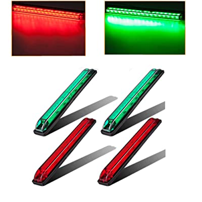 EXERAUO LED Truck Bed Light 18 Diodes Led Boat Navigation Light Trailer Side Marker Light Utility Strip Lights: Automotive