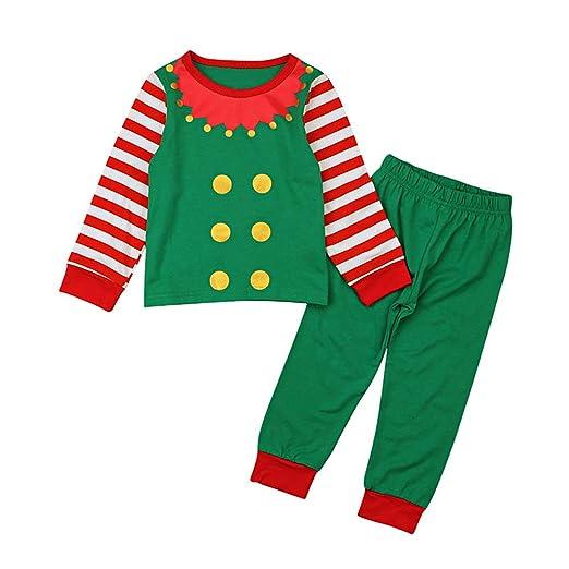 Christmas Santa Elf Cosplay Costume Tunic Top Shirt Pants Outfits Set for Baby  Kid Girls Boy cd9ef63c0