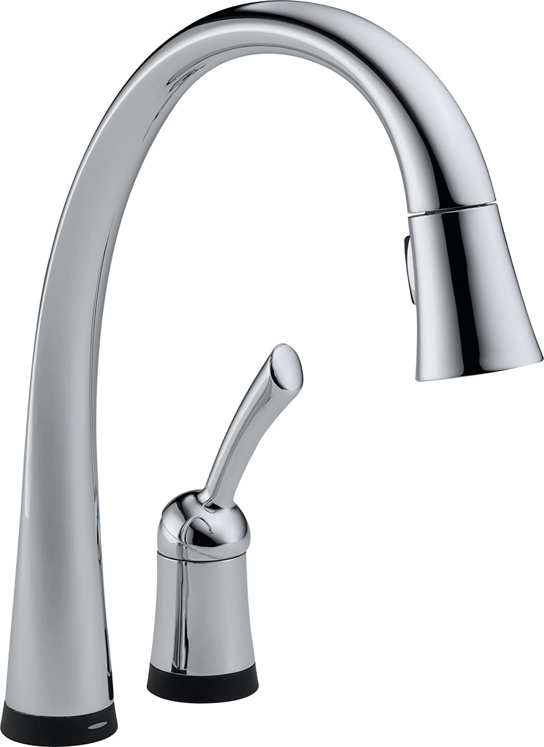 Delta 980T DST Pilar Single Handle Pull Down Kitchen Faucet With Touch2O  Technology, Chrome   Touch On Kitchen Sink Faucets   Amazon.com