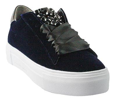 Original Kauf Kaufen Sie Authentic große Auswahl Kennel & Schmenger | BIG Samt-Sneaker - blau , Farbe:blau ...