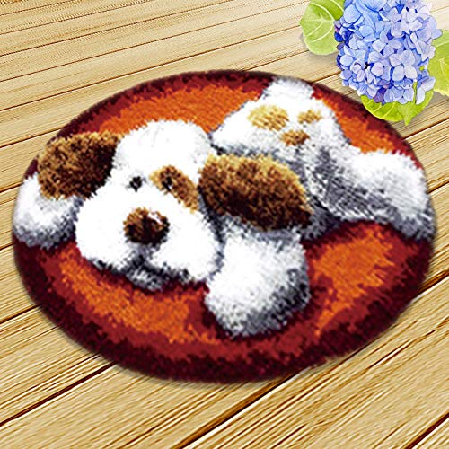 (Thunder Bluff Animal Latch Hook Kit Rug Carpet Mat 20 by 20 inch,Beginners can Also Easily Complete Handmade Crafts. (11))