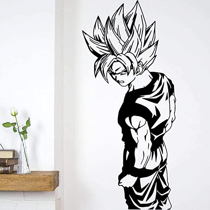 Super Saiyan Goku Dragon Ball, arte de pared, pegatina para ...