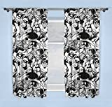 Marvel Comics Curtains, Black, 72 Inches