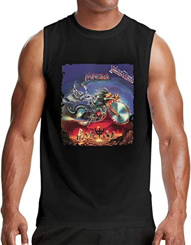 Judas Priest Adult Black Muscle T