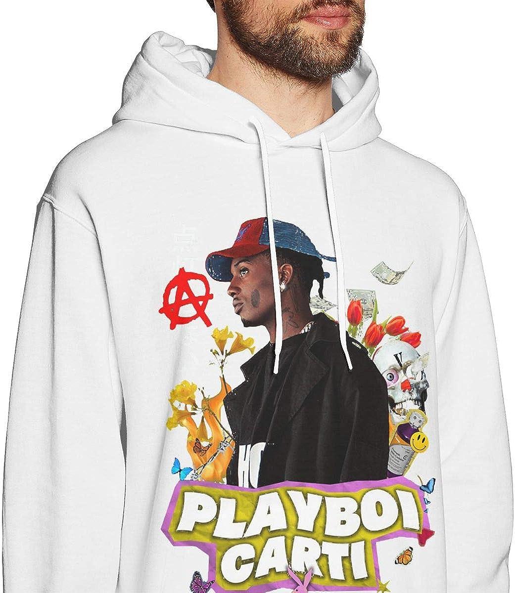 Mens Hoodie Sweatshirt Playboi Poke It Out-Carti Sweater Black
