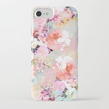 ZQ-Link Funda iPhone 7 Funda iPhone 8 Casas Estuche de Silicona,TPU Diseño Impreso + Delgado Anti-arañazos Suave Jelly Crystal Silicona Cáscara Dibujos Animados Patrón (Flor de mármol): Amazon.es: Electrónica