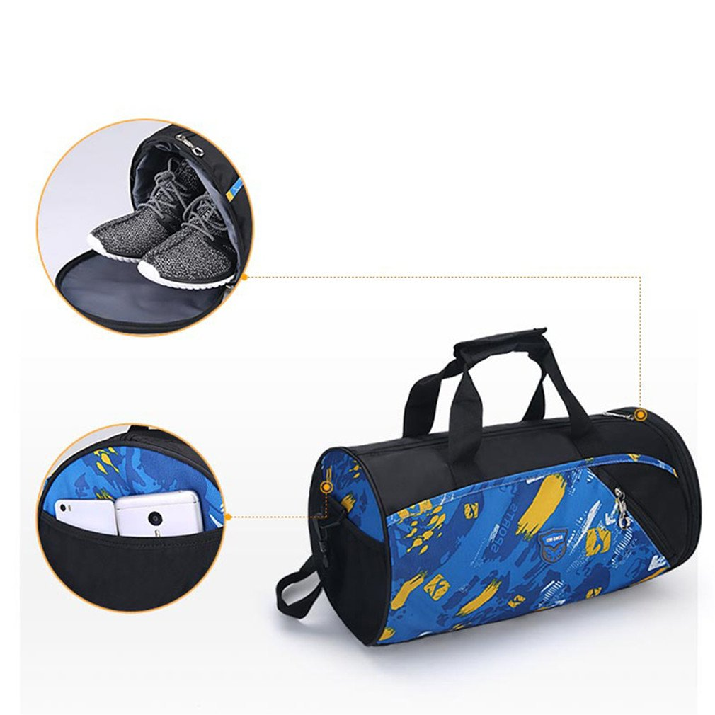 Amazon.com  Sports Gym Bag Women Men Fitness Bags Yoga Waterproof Sport Bag  Travel Training Shoulder Luggage Duffle Shoes Small XA6WA Rose Red  Sports    ... 1a40cae85fdf1
